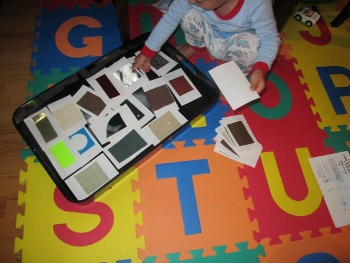 Montessori Infant & Toddler Activity – Texture Cards