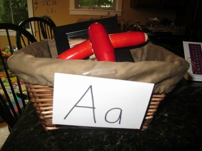 Our Letter Baskets – The Letter A
