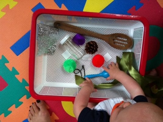 DIY Montessori Toys for Babies - Treasure Basket