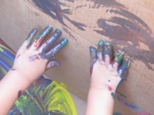 handprints 300x225 Paint in a Box