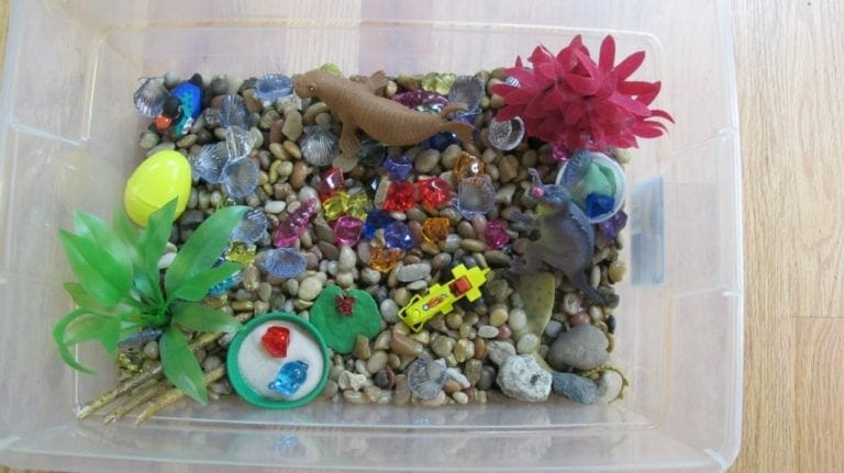 Beach Themed Sensory Tub