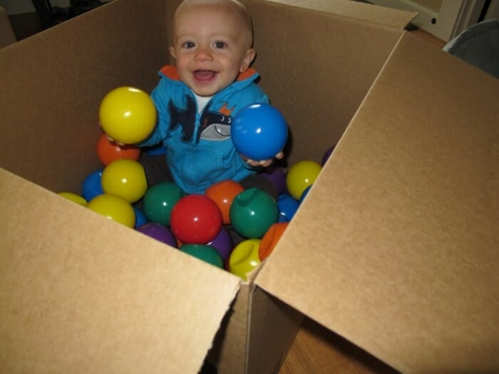 sensory activity for infants with balls