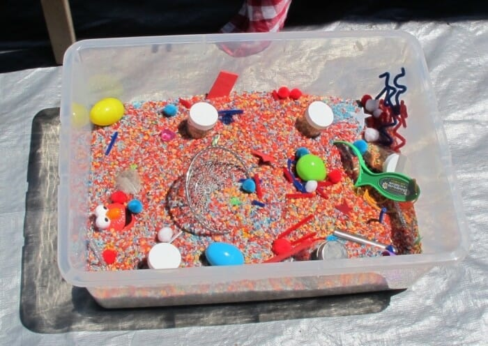 Fun sensory tub for toddlers