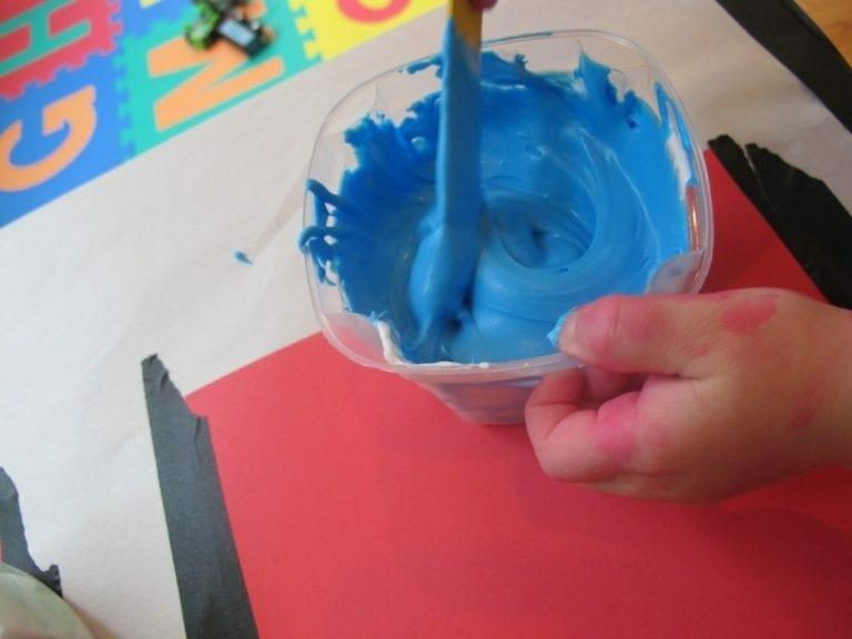 Blue Puffy Paint Homemade Puffy Paint Preschool
