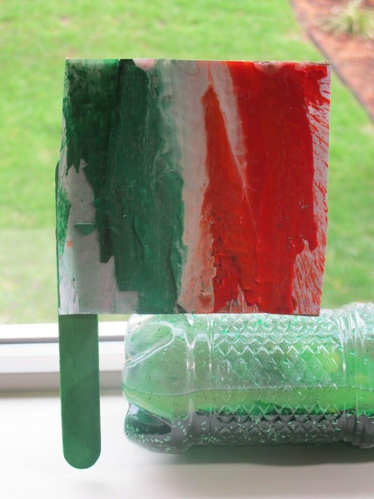 Melted Crayon Art - Make an Irish Flag