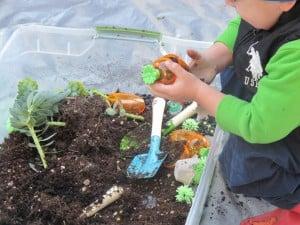 IMG 4703 300x225 Spring Garden Sensory Tub