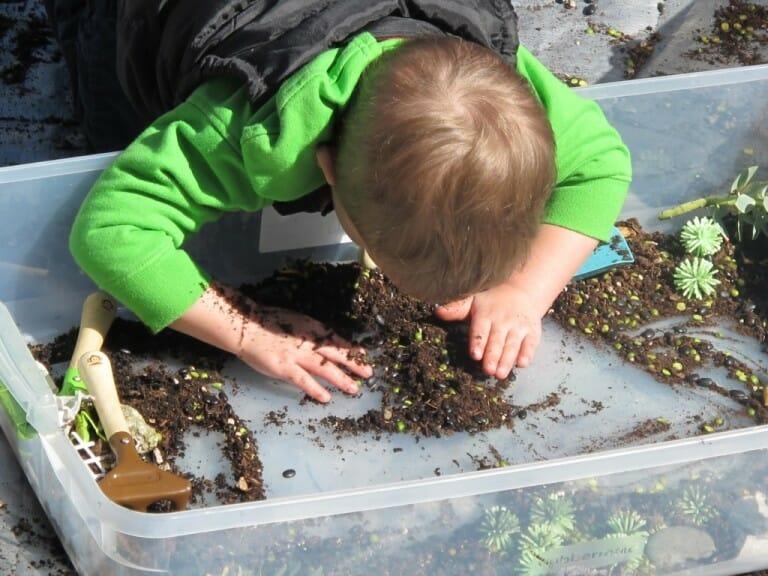 Earth Day Activity - Spring Sensory Tub