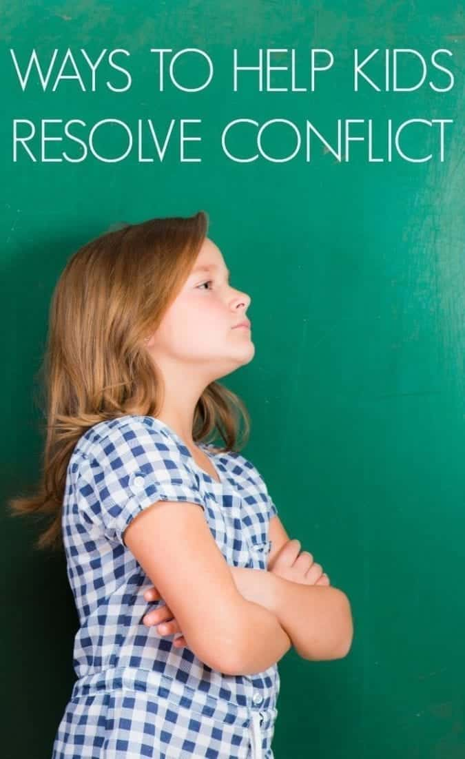 How to help kids resolve conflict