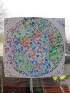 img 5505 225x300 Preschool Pencil Stamp Art   The Earth