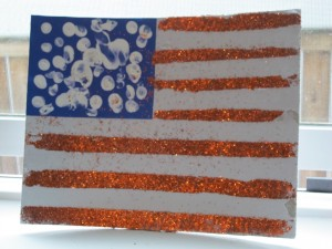 American Flag Memorial Day Preschool Activity