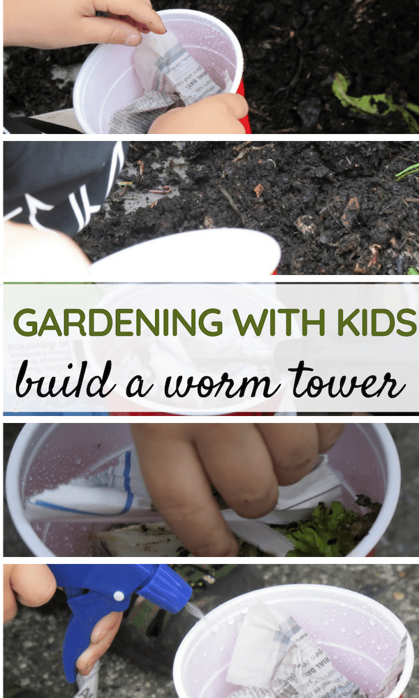 Learn a Fun Gardening Activity with Kids - How to Build a Worm Tower