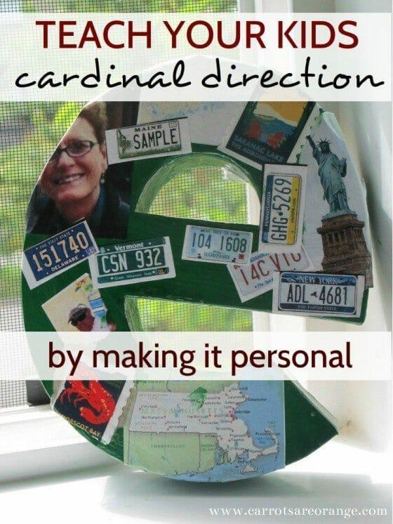 KraftLetterCraft 3 1 e1340249516826 Teach Cardinal Direction {Make It Personal}