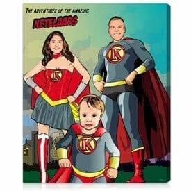 allpopart superhero art canvas from photo