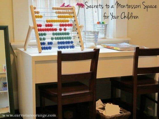 montessoriplayspace Secrets to a Montessori Space