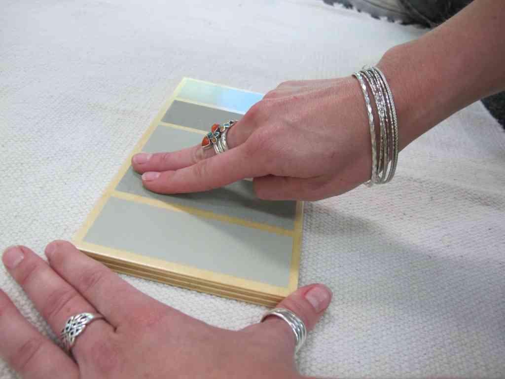 Rough & Smooth Boards Lesson - Montessori Sensorial