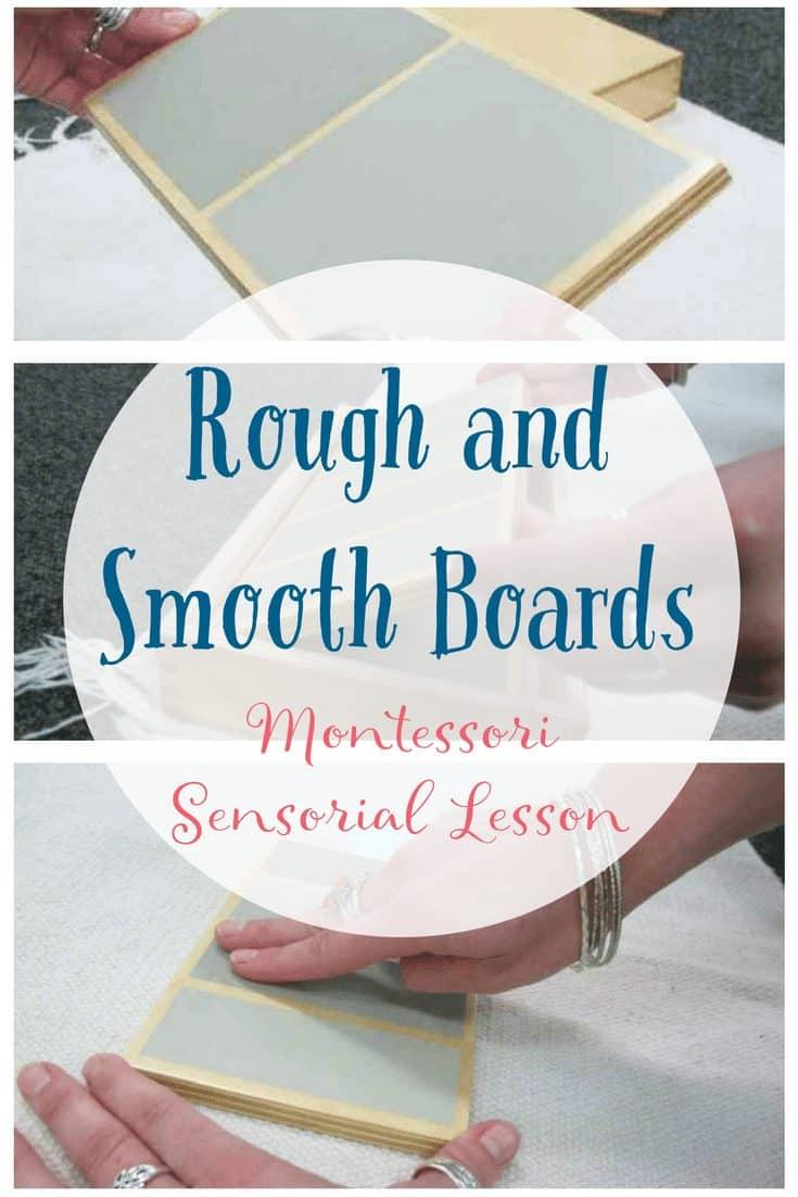 Rough and Smooth Boards Montessori Sensorial Lesson