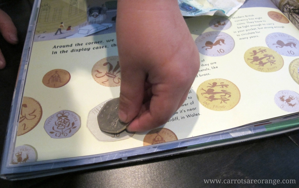 Take a Walk in London: Teach Your Kids About Money (Photo from Carrots Are Orange)