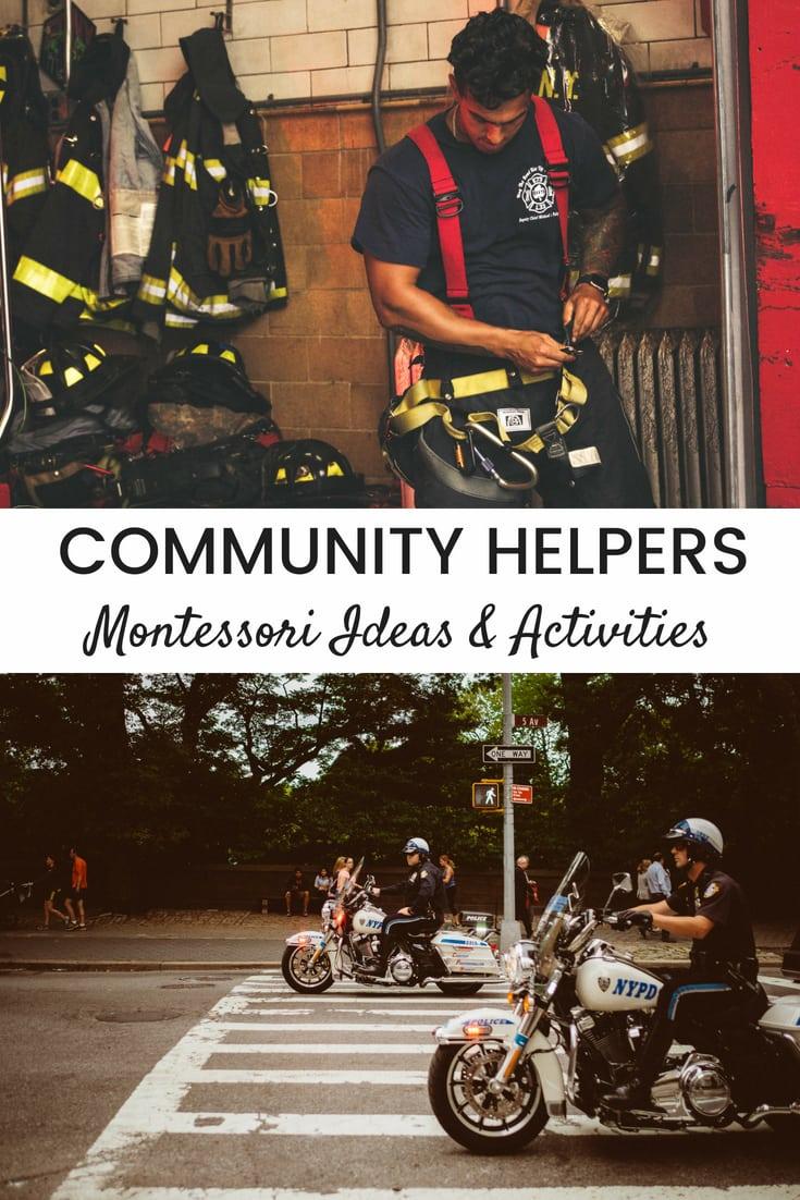 Community Helpers - Ideas for a Montessori Preschool