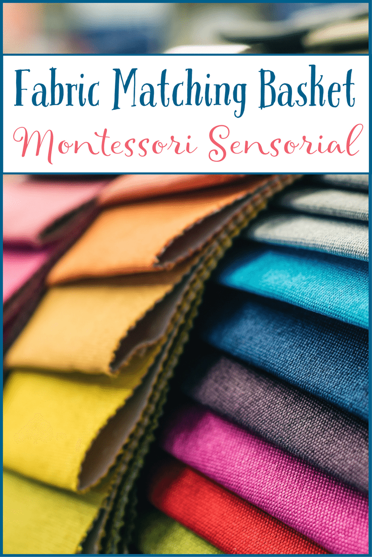 Presenting a Montessori Sensorial lesson with a fabric matching basket