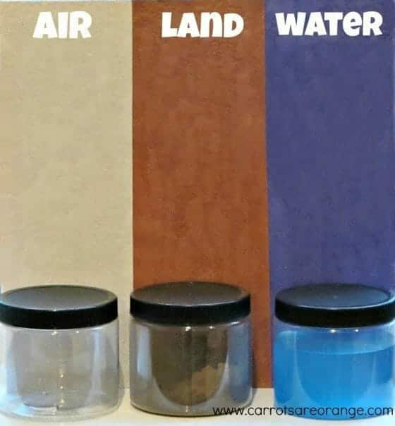 land air water
