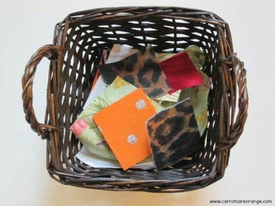 fabricbasket e1353183725971 Montessori Sensorial: Fabric Basket