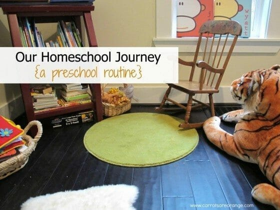 preschool homeschool routine