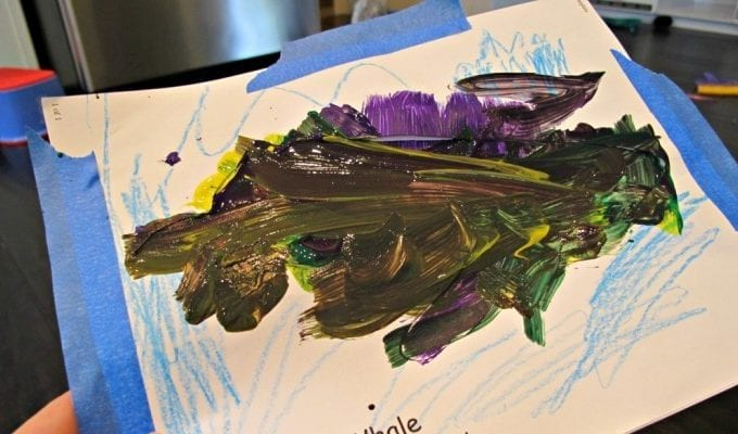 Preschool Whale Art Craft