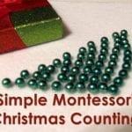Preschool Math Game – Simple Montessori Christmas Counting