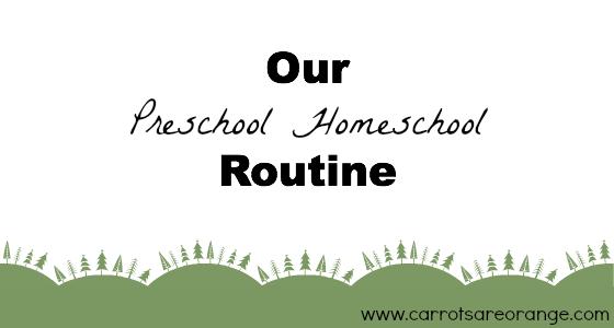 preschoolroutine Preschool Homeschool Routine (Free Printable)