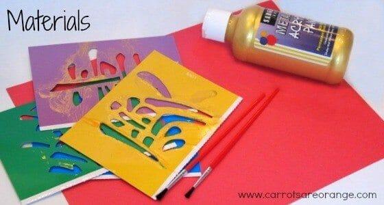 chinesenewyearstencilmaterials Lunar New Year Activity for Kids