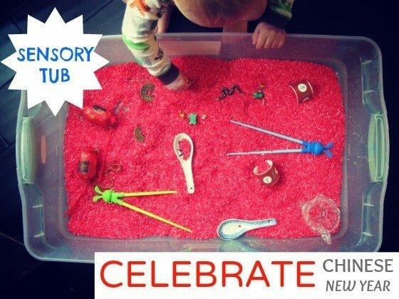 CHINESE NEW YEAR sensory TUB