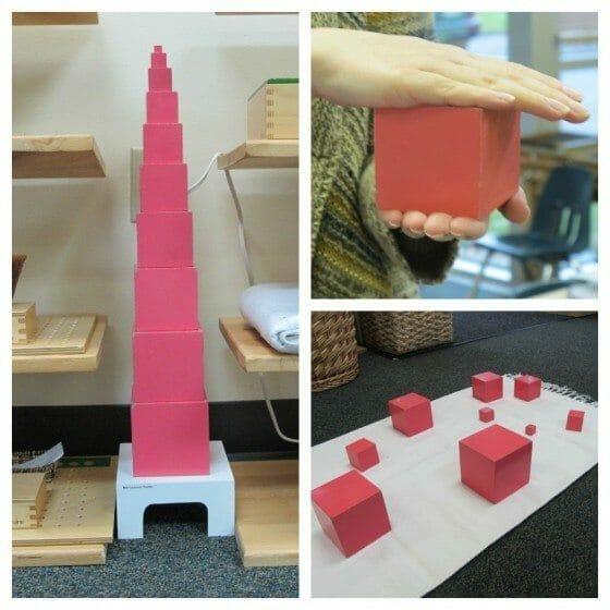 Montessori Pink Tower Lesson