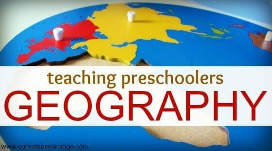 montessorigeographypost Teaching Geography to Preschoolers