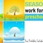 Seasons Work for Preschoolers