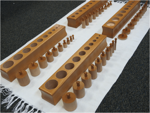 How to Present Montessori's Knobbed Cylinders Lesson
