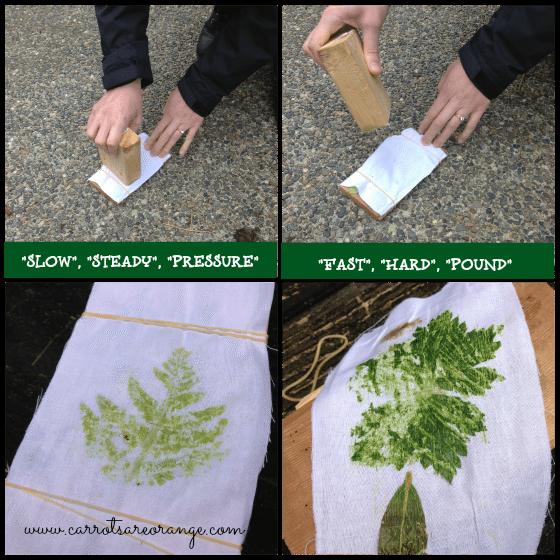 leafactivityapproach Preschool Physical Science Activity {Leaf Pounding}