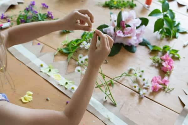 How to Make a Flower Crown for Summer Solstice