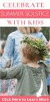 A child wearing a flower crown celebrating solstice