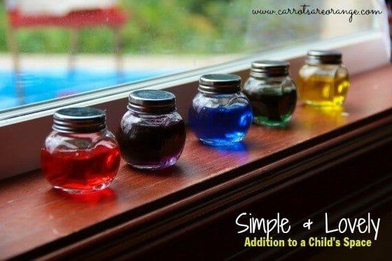 Simple & Colorful Addition to a Montessori Space