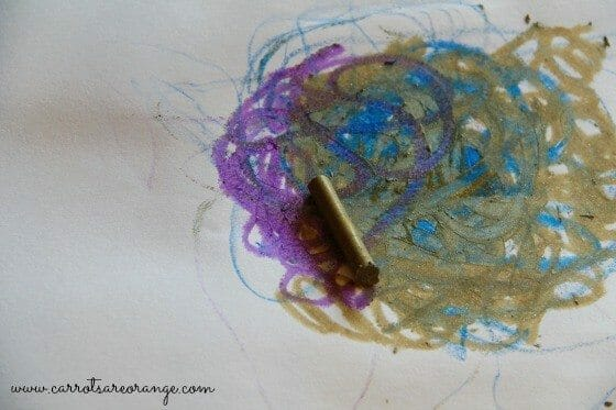 Melted Crayon Art Activity for Toddlers