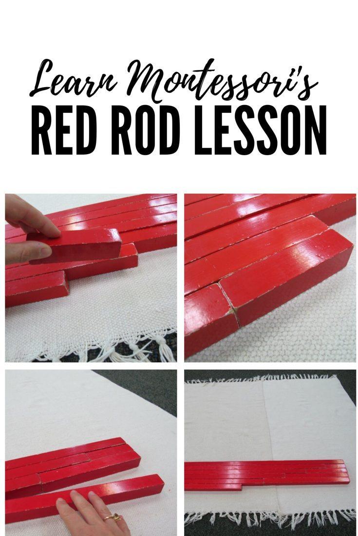 Montessori Red Rods Lesson