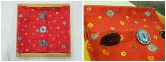 Montessori Practical Life: Button Dressing Frame