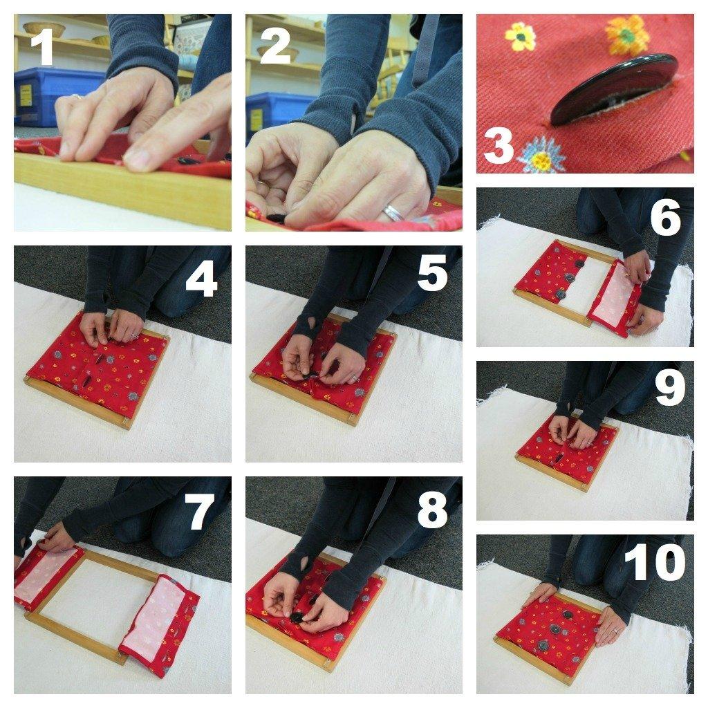 Montessori Practical Life Lesson: Button Frame