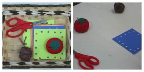 Montessori Sewing Lesson