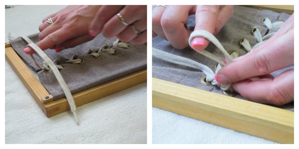 Montessori Practical Life Lesson: Lacing Frame