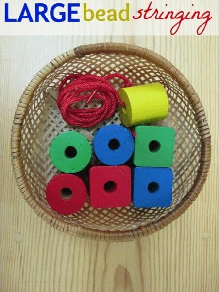 Large Bead Stringing - Montessori Practical Life
