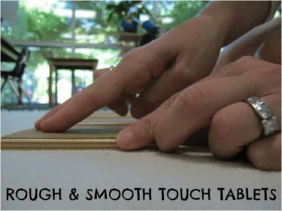 Rough Smooth Tablets Lesson - Montessori Sensorial
