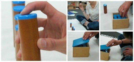 Montessori Sensorial: Sound Cylinders