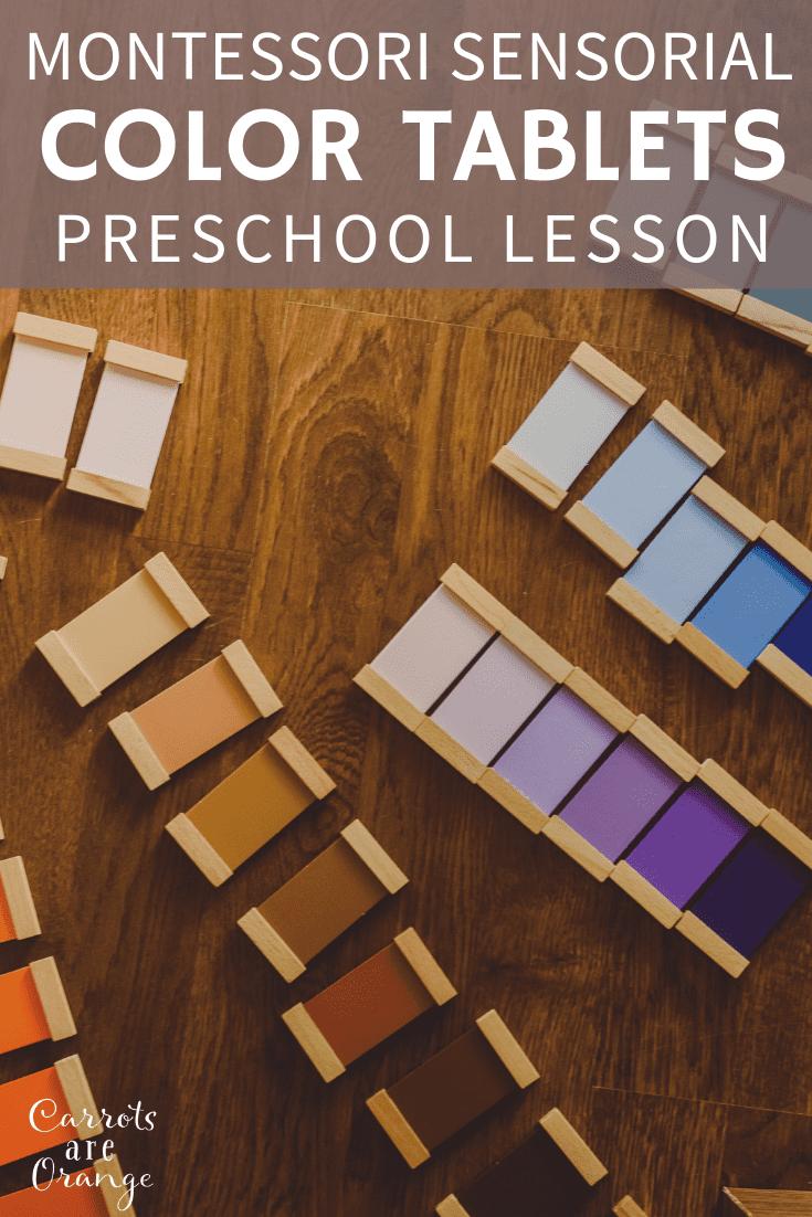 Montessori Sensorial - Color Tablets Lesson