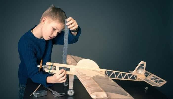 Boy Building Early Math Skills